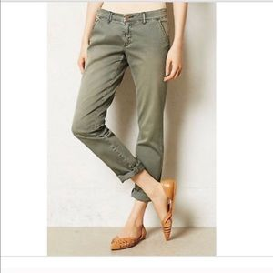 Anthropologie Pilcro Olive Chinos